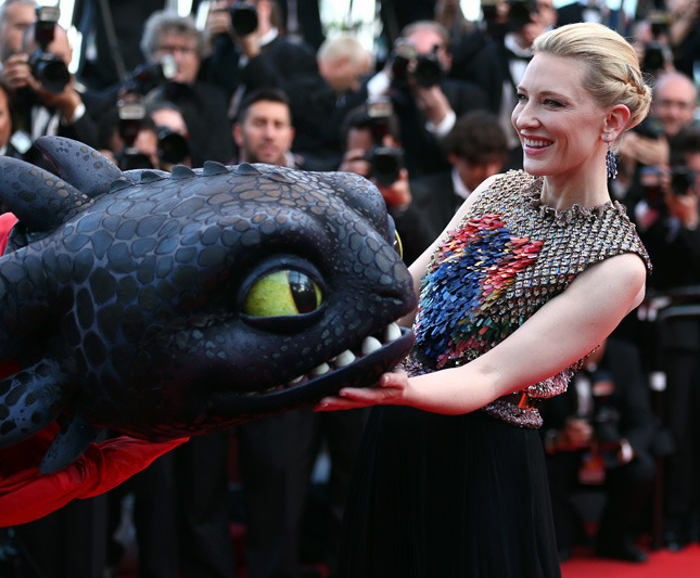 "Cate Blanchett at the premiere of ""How to Train Your Dragon 2"""