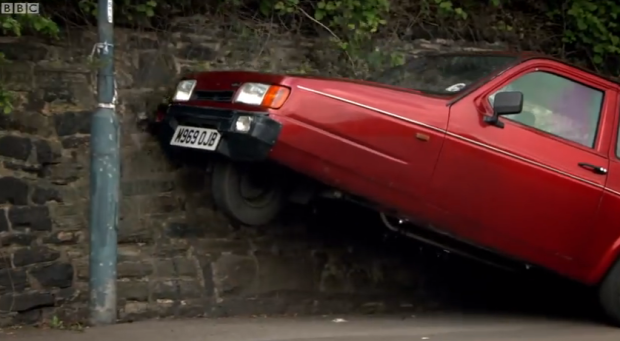 "The Reliant Robin: Image via ""Top Gear"""